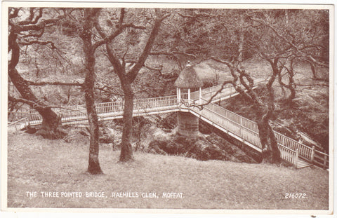 The Three Pointed Bridge, Raehills Glen, Moffat