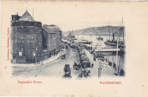 Early 1900s postcard of Reginald's Tower, Waterford, Ireland