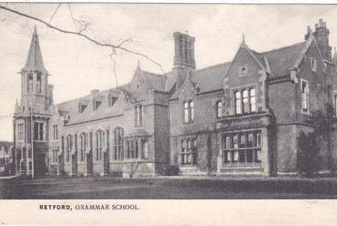 Old postcard of Retford Grammar School