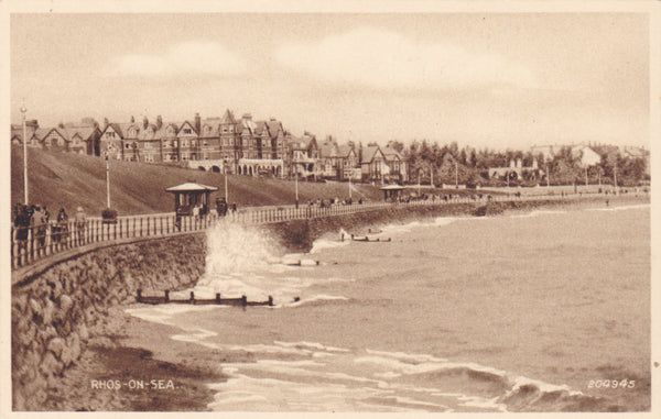 Rhos-on-Sea, Denbighshire, old postcard