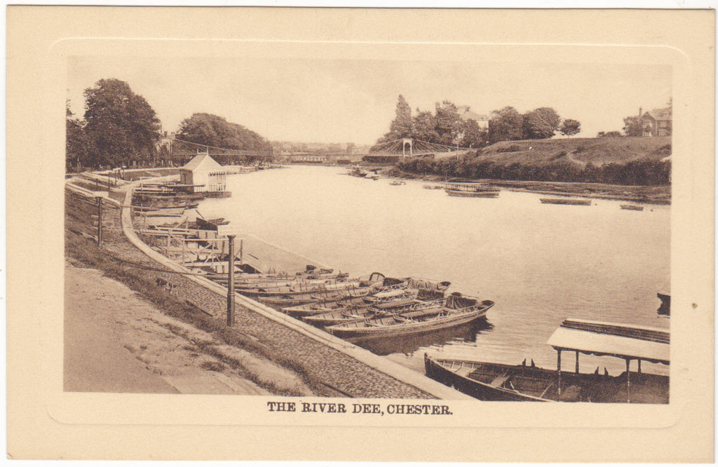 RIVER DEE, CHESTER - EMBOSSED POSTCARD (ref 056)