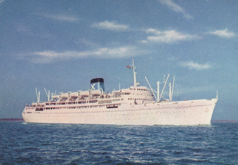 Postcard showing RMS Bretagne