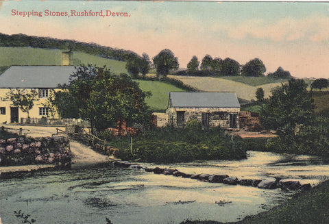 Stepping Stones, Rushford, Devon - pre 1918 postcard