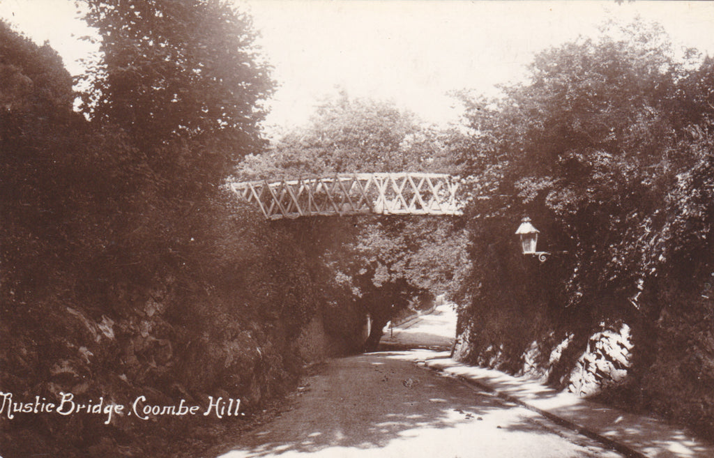 RUSTIC BRIDGE, COOMBE DINGLE (BRISTOL) - 1912 REAL PHOTO POSTCARD