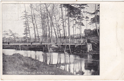 Old postcard showing Rustic Bridge, Glengariff, Cork, Ireland