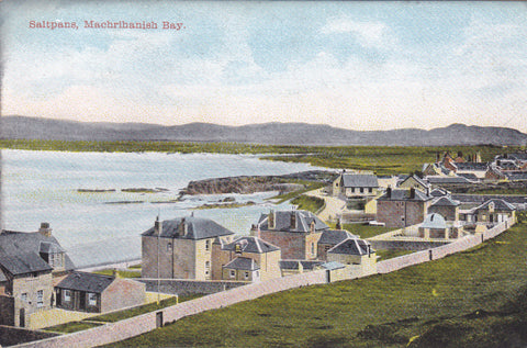 Old postcard of Saltpans, Machrihanish Bay in Argyllshire
