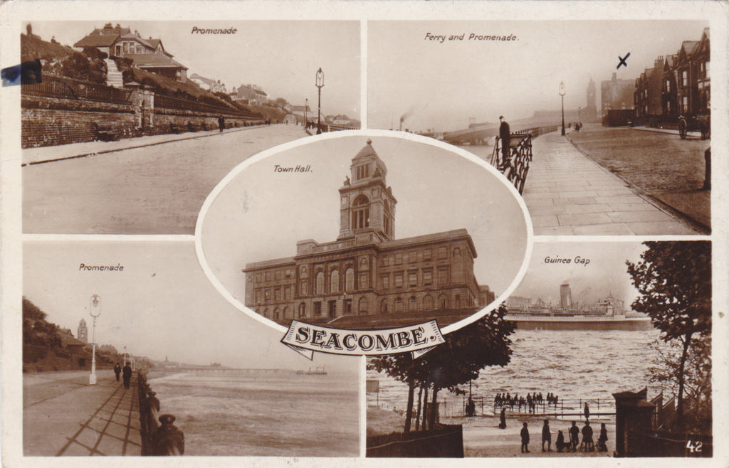 SEACOMBE - MULTIVIEW REAL PHOTO POSTCARD (127/13)