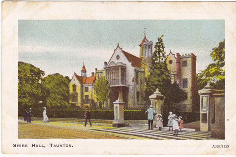 Shire Hall, Taunton, Devon vintage postcard
