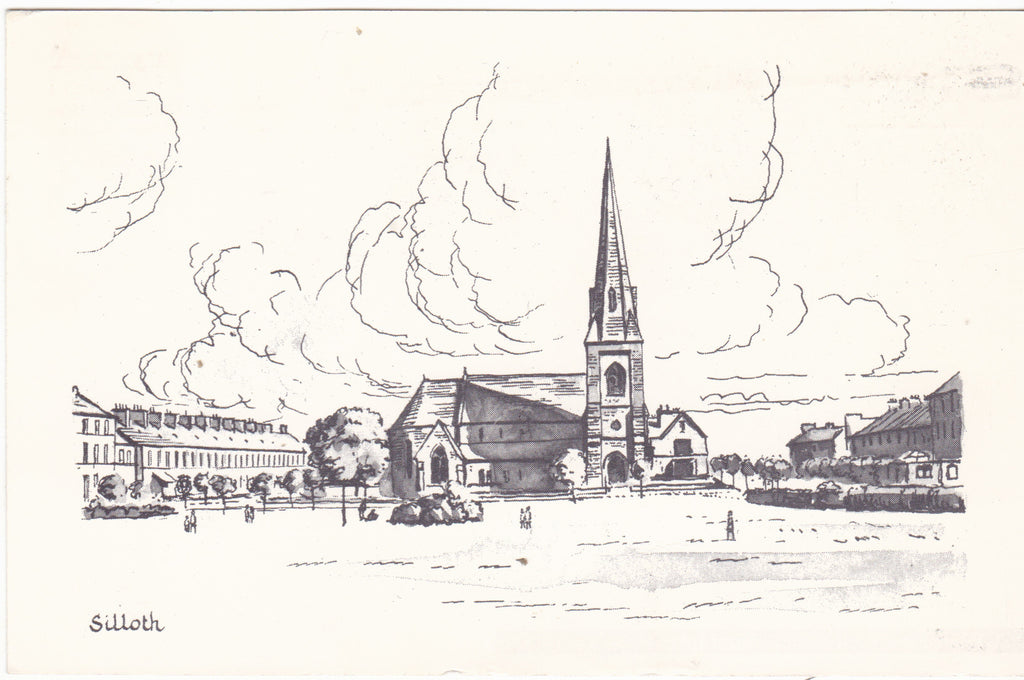 Silloth sketch postcard