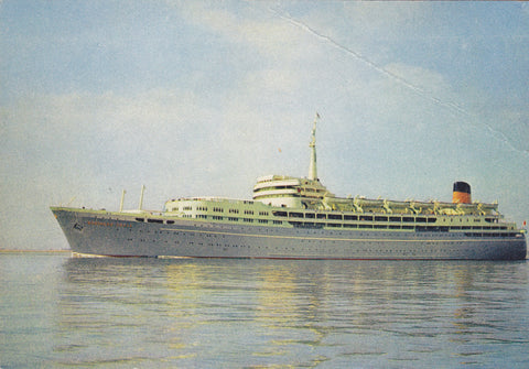 "Colour postcard of the SS ""Southern Cross"", Shaw Savill Shipping Line"