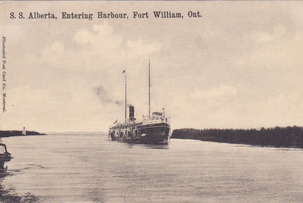 SS ALBERTA, ENTERING HARBOUR, FORT WILLIAM, ONTARIO