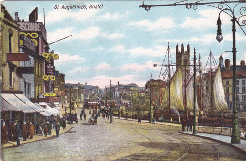 Old postcard of St Augustine's, Bristol