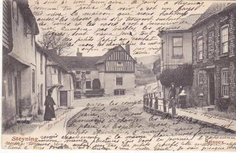 Old postcard of Steyning, Sussex