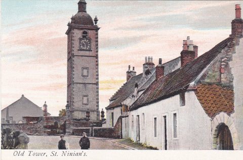 "Old postcard entitled ""Old Tower, St Ninian's"""
