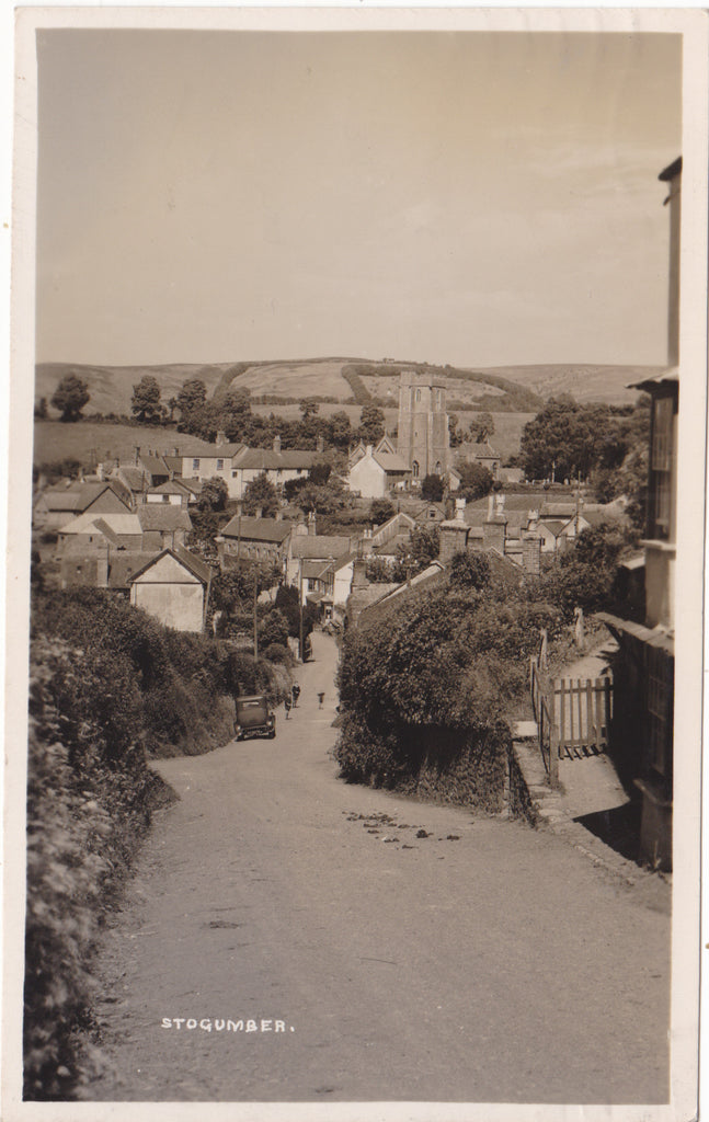 Real photo postcard of Stocumber, Somerset