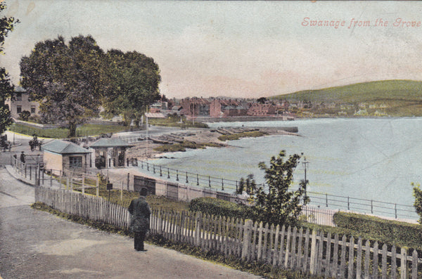 Old postcard of Swanage from the Grove