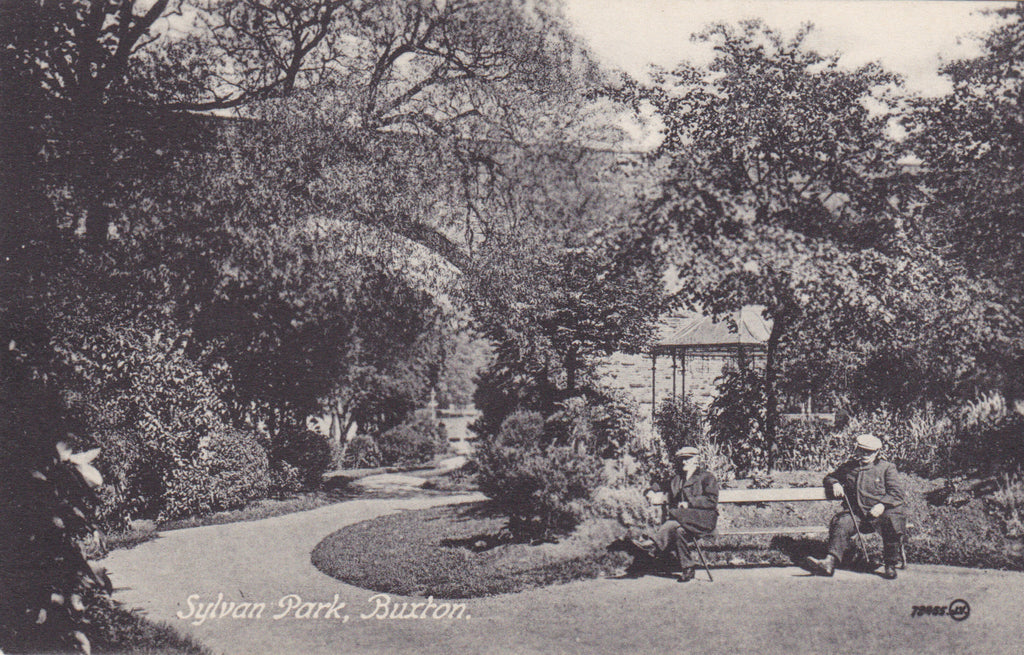 Old postcard of Sylvan Park, Buxton, Derbyshire