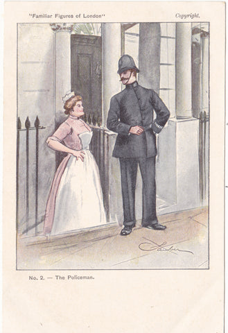 The Policeman - in the Familiar Figures of London postcard series c1902