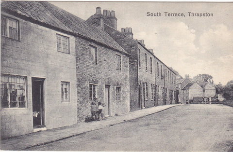 South Terrace, Thrapston vintage postcard