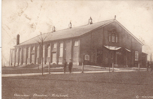 Old postcard showing Garrison Theatre, Tidworth