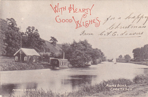 Early 1900s postcard of Trent Lock in Nottinghamshire