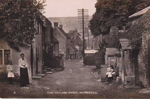 Old real photo postcard of the Village Pump, Wendover in Buckinghamshire