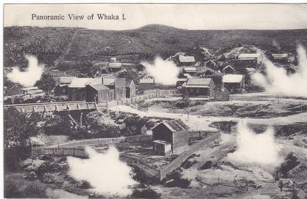 PANORAMIC VIEW OF WHAKA I. - OLD NEW ZEALAND POSTCARD