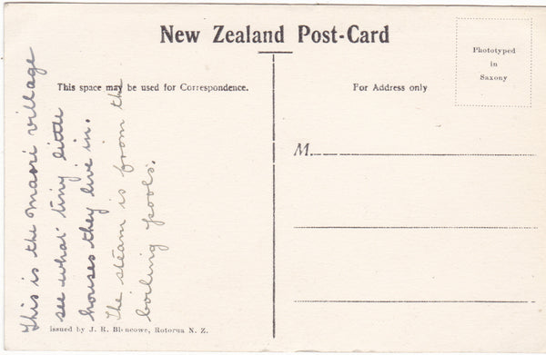 PANORAMIC VIEW OF WHAKA I. - OLD NEW ZEALAND POSTCARD (ref 2620/17)