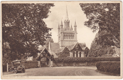 WHIPPINGHAM CHURCH, ISLE OF WIGHT - VINTAGE CAR (ref 5958/20)