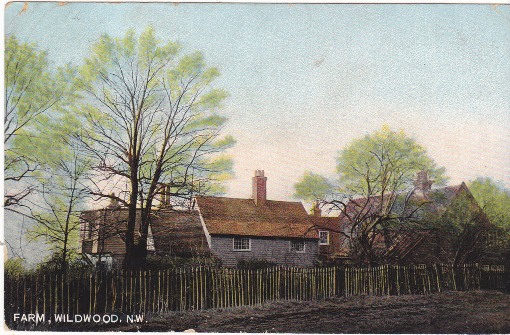 Farm, Wildwood, London NW - pre 1918 postcard