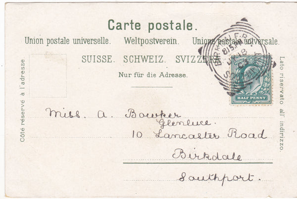 WINTERTHUR - STADTHAUS - 1903 SWITZERLAND POSTCARD (ref 1912/17)