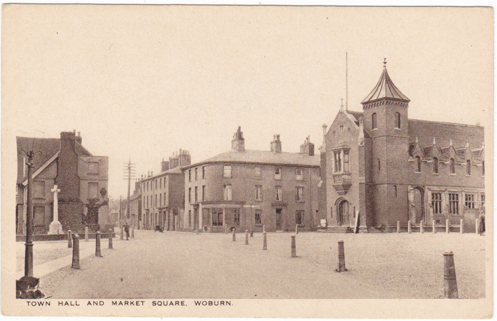 WOBURN - MARKET SQUARE & TOWN HALL - OLD POSTCARD (ref 5527/16)