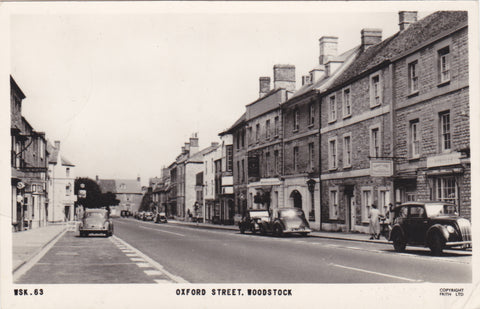 Real photo postcard of Oxford Street, Woodstock