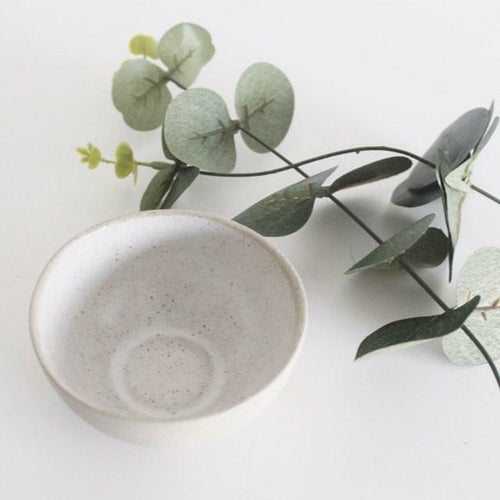 Ceramic clay mask mixing dish