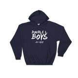Navy Love & loyalty Hoodie with White Double L Boys Logo.