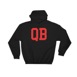 Blk/Red QB Hoodie (back)