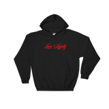 "Black hoodie with red ""Love & Loyalty"" Logo."