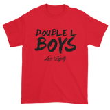 Red Love & loyalty T Shirt with Black Double L Boys Logo.