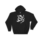 "Black Hoodie with large white ""Infamous Dragon"" Logo"