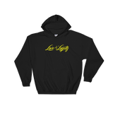 "Black hoodie with Yellow ""Love & Loyalty"" Logo."