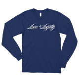 Blue Long Sleeve Shirt with White Love & Loyalty Logo.