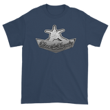 "Blue Dusk Premium T-shirt with silver Love & Loyalty ""Hand Signs"" Logo"