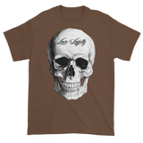 chestnut T-Shirt with large white Skull Graphic.