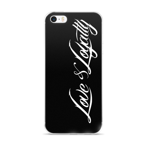 Black iPhone Case with the White Love & Loyalty Logo.