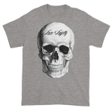 Sport Grey T-Shirt with large white Skull Graphic.
