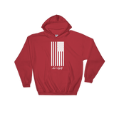 Red Hoodie with White Flag graphic above the Love & Loyalty Logo.