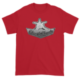 "Cherry Red Premium T-shirt with silver Love & Loyalty ""Hand Signs"" Logo"