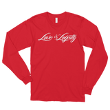 Red Long Sleeve Shirt with White Love & Loyalty Logo.