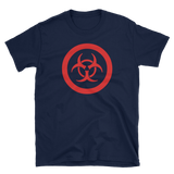BioHazard T-Shirt - Large Red Biohazard logo - Novelty Tee