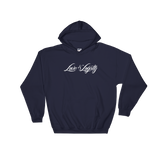 "Navy hoodie with white ""Love & Loyalty"" Logo."